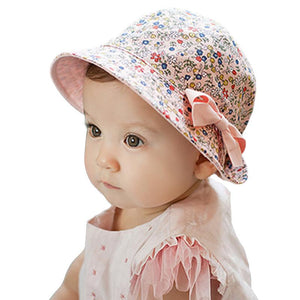 Reverse it Baby - Reversible Summer Floral Hat for Girls