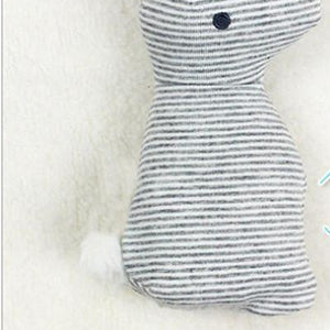 Hop the Rabbit - unisex soft plush baby rattle