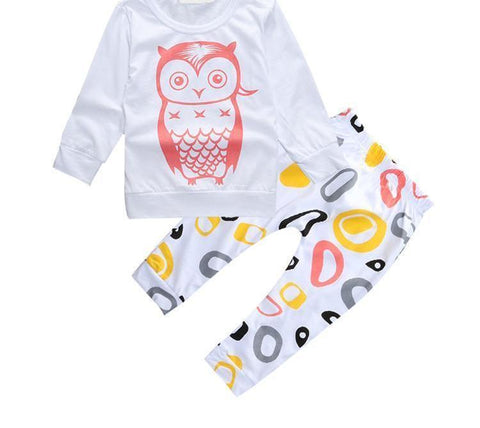 Little Night Owl - 2 Piece Girls set