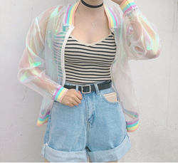 TRANSPARENT HOLOGRAM JACKET