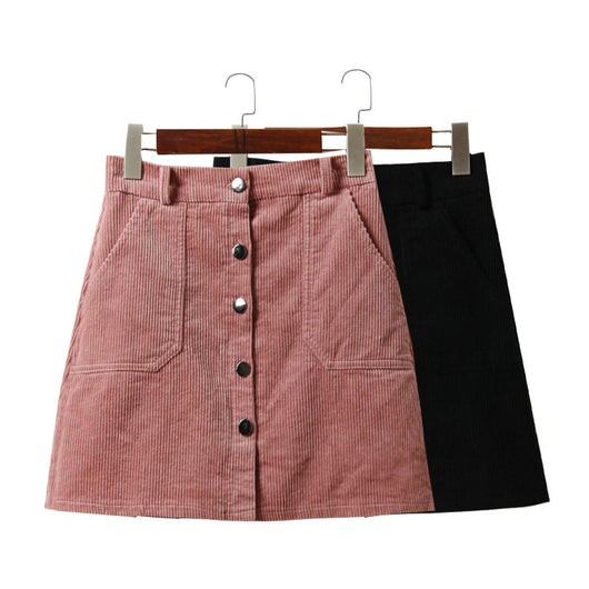 CORDUROY HIGH WAIST SKIRTS
