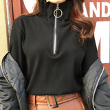 CIRCLE RING ZIP-UP PULLOVER