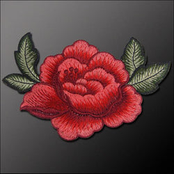 5 x ROSE SEW-ON PATCH