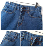 HIGH WAIST SLIM DENIM SHORTS (SINGLE BUTTON)