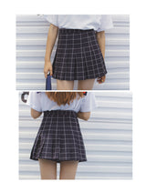 HIGH WAISTED GRID SKIRTS