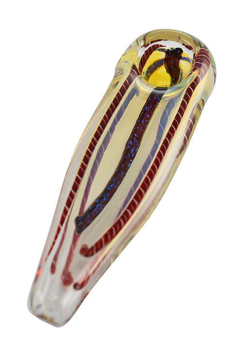 "Flat Head Glass Spoon Pipe 5"" - smoknfly"