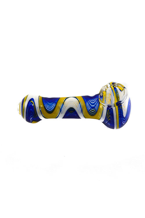 Tsunami Rainbow Solid Glass Spoon Pipe 4.5