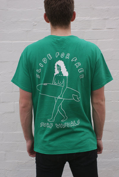 SLIDE FOR FREE TEE - KELLY GREEN