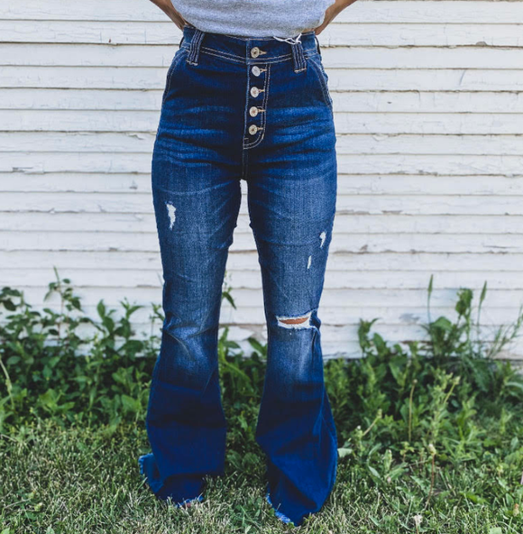 Denim Distressed Bells