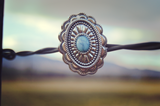 Large Light Blue Concho Ring