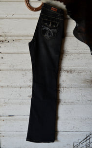 Black Wash Boot Cut Jeans