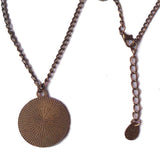 Gravity Falls Bill Cipher Wheel Necklace Antique Pendant Jewelry Human Chain