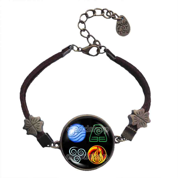 Avatar the last Airbender Bracelet Fire Elements Water Tribe Earth Kingdom Air Nomads  Legend of Korra Cosplay