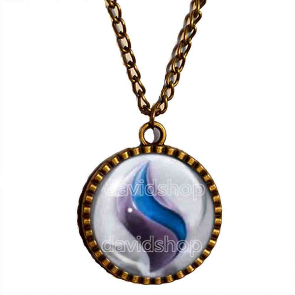 Pokemon Mewtwonite X Mega Stone Necklace Anime Pendant Jewelry Mewtwo Cosplay Charm