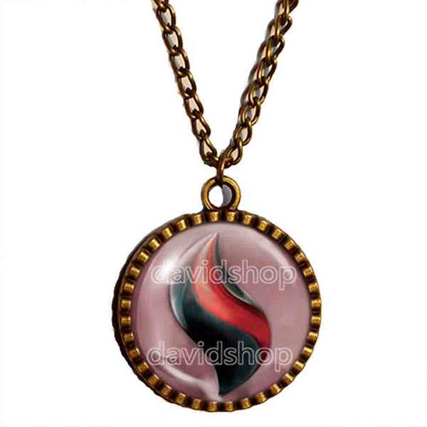 Pokemon Houndoominite Mega Stone Necklace Anime Pendant Jewelry Houndoom Cosplay Charm