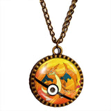 Pokemon Charizard Y Pokeball Necklace Charizardite Y Mega Stone Anime Pendant Jewelry Cosplay Charm - DDavid'SHOP