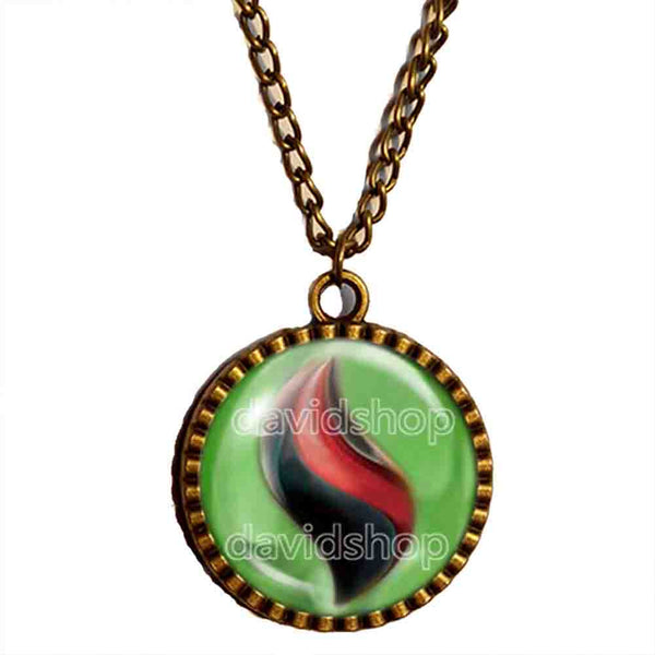 Pokemon Tyranitarite Mega Stone Necklace Anime Pendant Jewelry Tyranitar Cosplay Charm - DDavid'SHOP