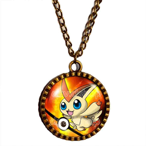 Pokemon Victini Pokeball Necklace Anime Pendant Jewelry Cosplay Cute Gift - DDavid'SHOP