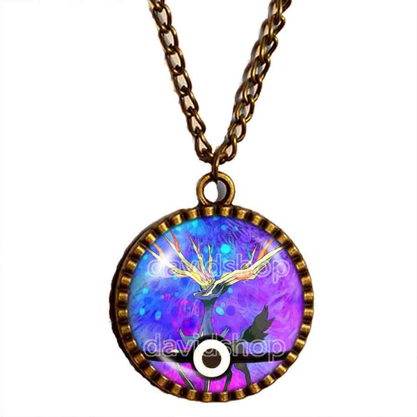 Pokemon X Xerneas Legendary Pendant Necklace Anime EX Pokeball Jewelry Cosplay Cute Gift - DDavid'SHOP