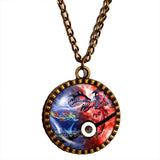 Pokemon XY Legendary Necklace Xerneas Yveltal Pendant Anime EX Pokeball Jewelry X Y Cosplay Cute Gift - DDavid'SHOP