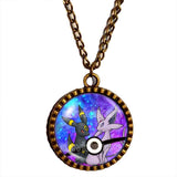 Pokemon Umbreon Espeon Pokeball Necklace Anime Pendant Jewelry Eevee Cosplay Cute Gift Love - DDavid'SHOP