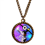 Pokemon Umbreon Espeon Pokeball Necklace Anime Pendant Jewelry Cosplay Cute Gift Blue Purple - DDavid'SHOP