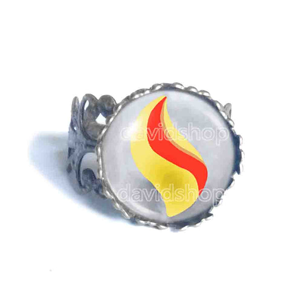 Pokemon Ampharosite Mega Stone Ring Anime Jewelry Ampharos Cosplay Charm