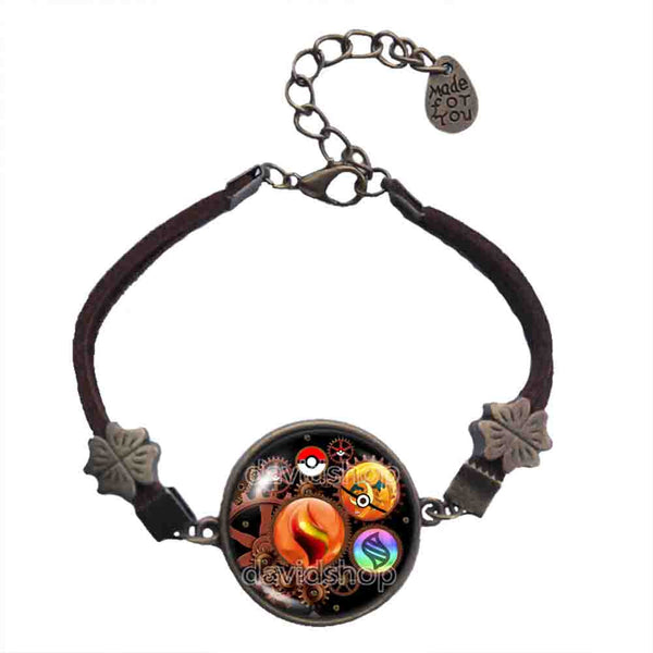 Pokemon Charizard Y Pokeball Bracelet Charizardite Y Mega Stone Jewelry Cosplay Gear Steampunk Keystone - DDavid'SHOP