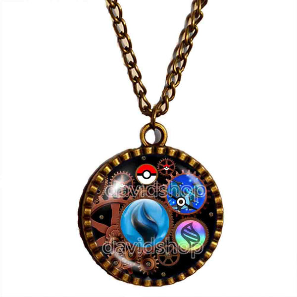 Pokemon Charizard X Pokeball Necklace Charizardite X Mega Stone Anime Pendant Jewelry Gear Steampunk Keystone - DDavid'SHOP