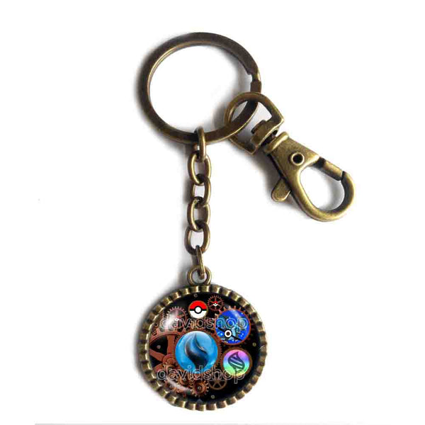 Pokemon Charizard X Pokeball Keychain Key Chain Key Ring Cute Keyring Car Anime Charizardite X Mega Stone Gear Steampunk Keystone - DDavid'SHOP