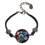 Pokemon Charizard X Pokeball Bracelet Charizardite X Mega Stone Jewelry Gear Steampunk Keystone - DDavid'SHOP