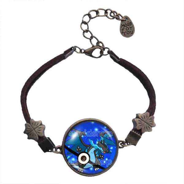 Pokemon Charizard Pokeball Bracelet Charizardite X Mega Stone Pendant Jewelry Cosplay