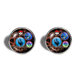 Pokemon Charizard X Pokeball Cufflinks Cuff links Fashion Jewelry Charizardite X Mega Stone Gear Steampunk Keystone - DDavid'SHOP