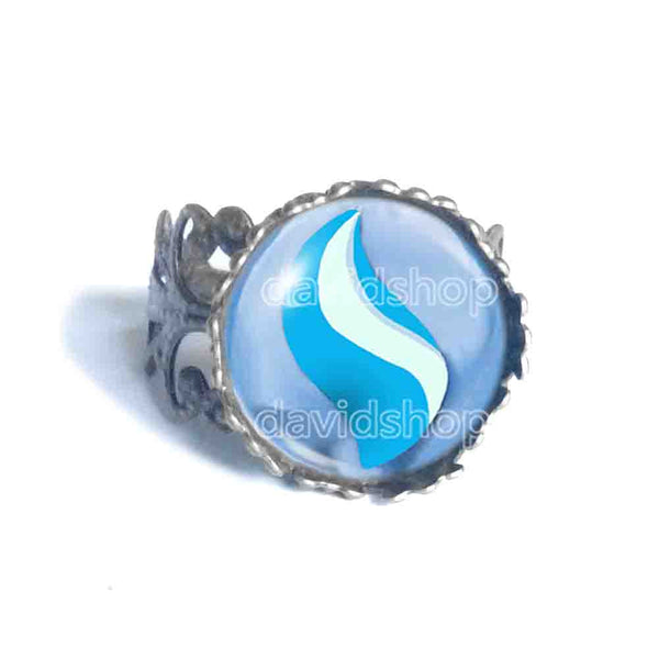 Steelixite Mega Stone Ring Anime Jewelry Steelix Cosplay Charm - DDavid'SHOP