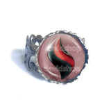 Pokemon Houndoominite Mega Stone Ring Anime Jewelry Houndoom Cosplay Charm