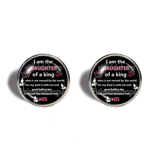 I Am The Daughter Of A King Cufflinks Cuff links Fashion Jewelry Cosplay Charm Gift