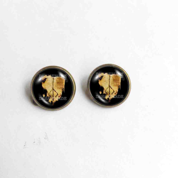 Bloodborne Hunters Mark Ear Cuff Stud Earring Hunter's Cosplay Jewelry Sign