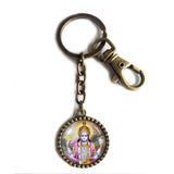 Hindu God Vishnu Keychain Key Chain Key Ring Cute Keyring Car Cosplay Charm Sign