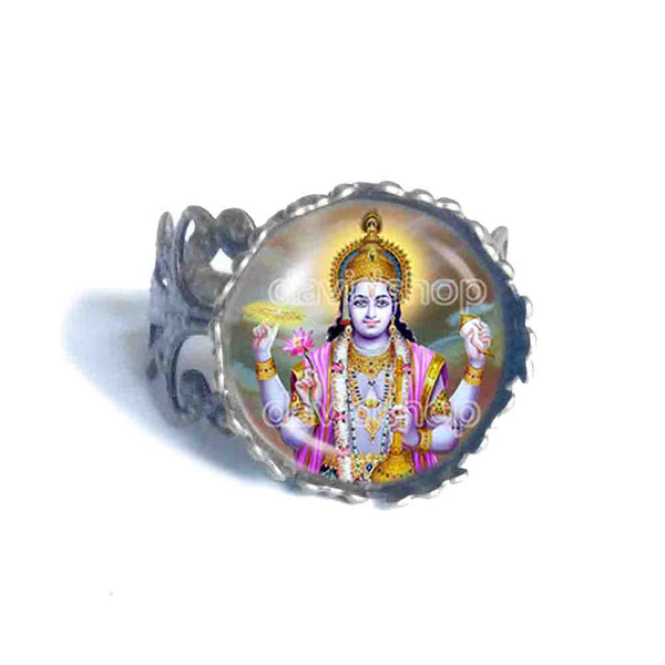 Hindu God Vishnu Ring Fashion Jewelry Gift Cosplay Charm Sign