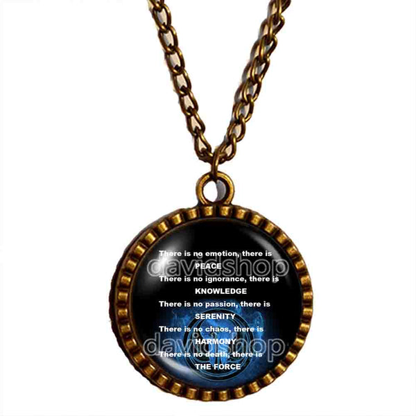 Jedi Code Necklace Pendant Fashion Jewelry Chain Cosplay Order Sign