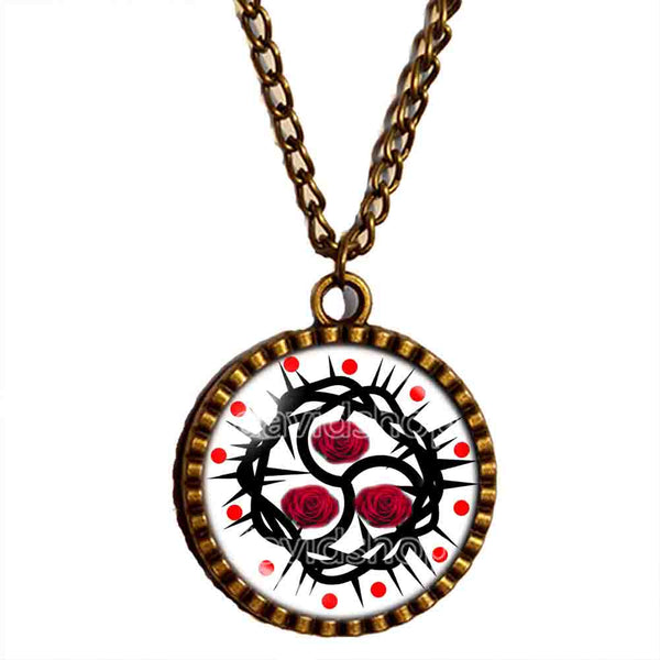 Red Rose BDSM Necklace Pendant Fashion Jewelry Chain Cosplay Sign