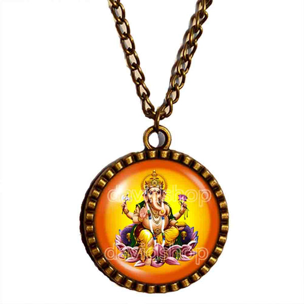 Ganesh Ganesha Necklace Hindu Gods Goddesses Pendant Om Charm Fashion Jewelry Sign