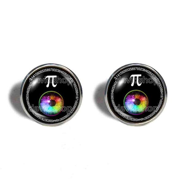 Pi Day Math Pi Cufflinks Cuff links Fashion Jewelry Cosplay Colorful Eyes Sign
