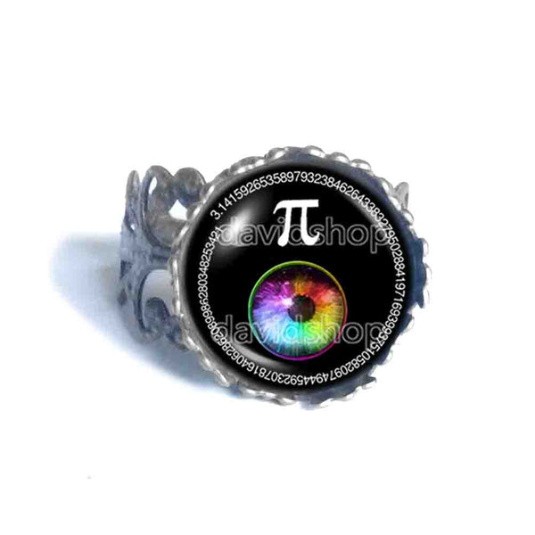 Pi Day Math Pi Ring Fashion Jewelry Cosplay Colorful Eyes Sign