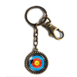 Archery Target Keychain Cute Keyring Car Bow Cupid Arrow Heart Angel Love Cosplay Sign