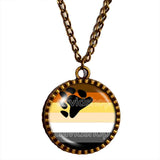 Gay Bear Pride Flag Necklace Pendant Chain Cosplay Brotherhood Fashion Jewelry Sign