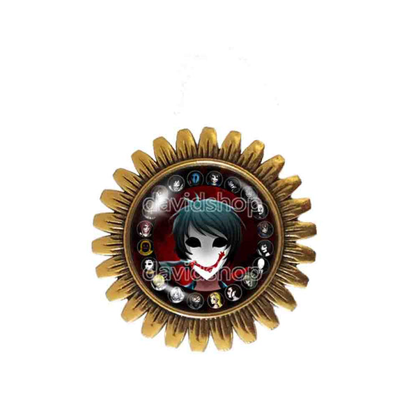 Creepypasta Bloody Painter CREEPY PASTA TICCI TOBY Brooch Badge Pin JEFF THE KILLER Cosplay Sign
