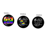 Rainbow Men Mens Gay Pride Brooch Badge Pin Bi LGBT Flag Cosplay Fashion Jewelry Sign