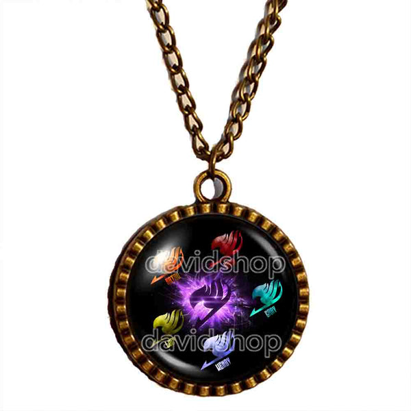 Fairy Tail Necklace Guild Marks Pendant Fashion Jewelry Cosplay Purple Wing Bird