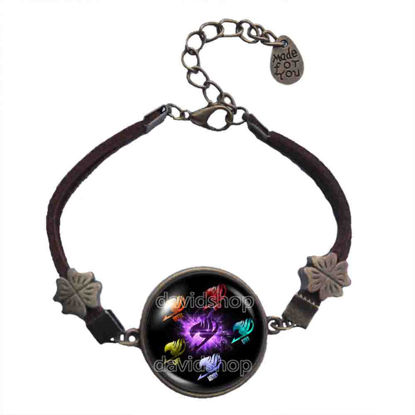 Fairy Tail Bracelet Symbol Guild Marks Fashion Jewelry Cosplay Purple Wing Bird